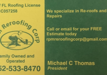 RPM Reroofing Corp